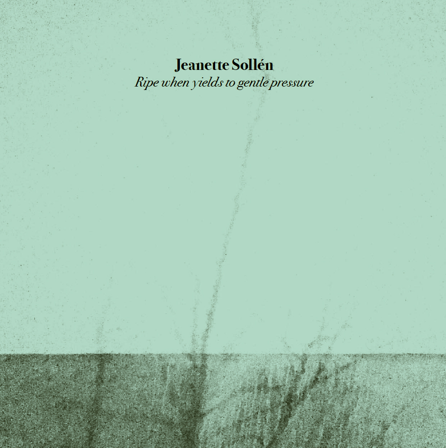 Jeanette Sollén - Ripe when yields to gentle pressure Cd handnum